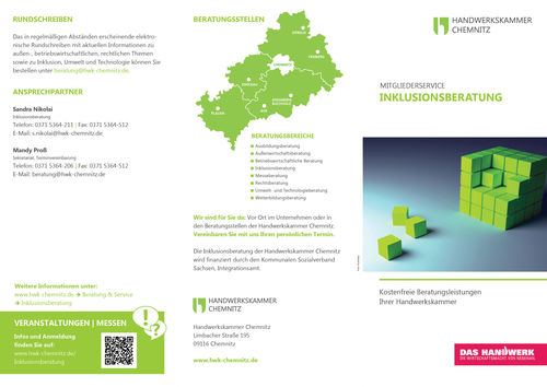 Inklusionsberatung Flyer Ansicht Cover